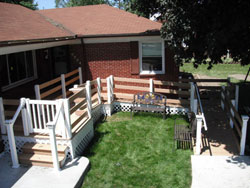 Barrier Free Remodeling made possible with Wheelchair ramp contstruction