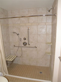 Walk-in Showers Designed and Constructed by Community Renovations